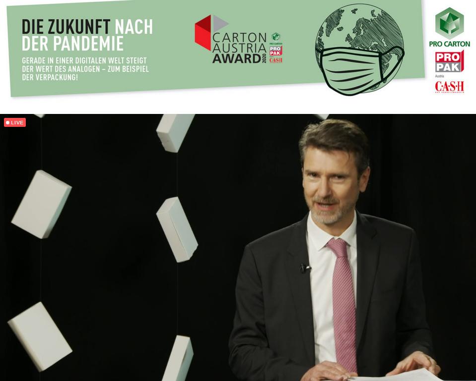 Pro Carton PROPAK Austria Marketing E-vent - Begrüßung durch Horst Bittermann, Präsident Pro Carton